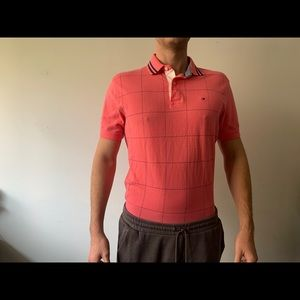 Tommy Hilfiger Pink checkered Polo fits L